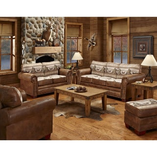 Alpine Cabin Lodge 4 Piece Living Room Sleeper Set