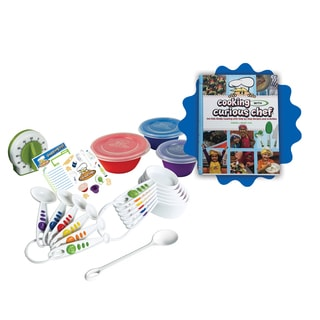 Curious Chef Cooking With Curious Chef Cookbook and 17-piece Measure and Prep Kit