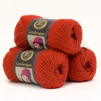 Lion Brand Yarn Landscapes Pumpkin 545-133 3 Pack Fashion Yarn