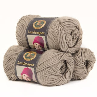 Lion Brand Yarn Landscapes Taupe 545-122 3 Pack Fashion Yarn