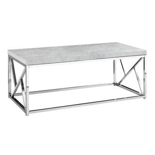 Monarch Grey/Chrome MDF/Metal Coffee Table