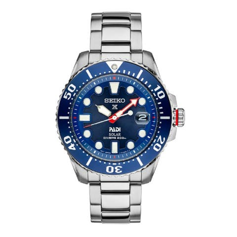 Seiko Men's Prospex PADI Special Edition Solar Diver 200M Water Resistant Watchrs 200M Watch