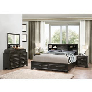 Bedroom Sets With Storage. Loiret Antique Grey Finish Wood Bed Room Set  King Storage Dresser Mirror Bedroom Sets For Less Overstock com