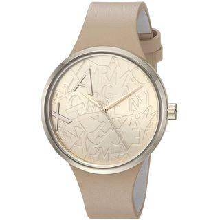 Armani Exchange Women's AX4506 'Street' Beige Leather Watch