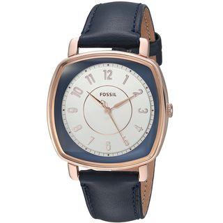Fossil Women's ES4197 'Idealist' Blue Leather Watch