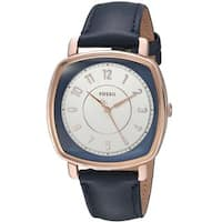 Fossil Women's ES4197 'Idealist' Blue Leather Watch