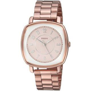 Fossil Women's ES4195 'Idealist' Rose-Tone Stainless Steel Watch