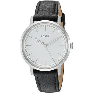 Fossil Women's ES4186 'Neely' Black Leather Watch|https://ak1.ostkcdn.com/images/products/15050898/P21544304.jpg?impolicy=medium