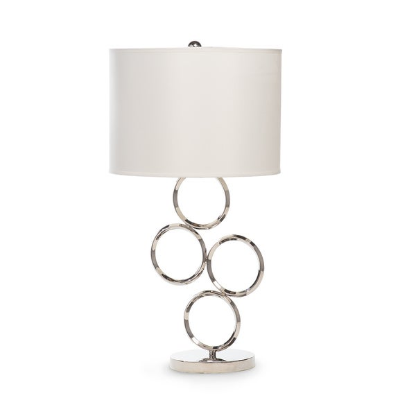 Chrome Circle 3 Brightness Settings Table Lamp
