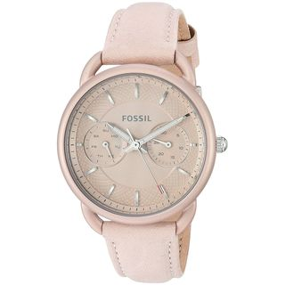 Fossil Women's ES4174 'Tailor' Multi-Function Pink Leather Watch