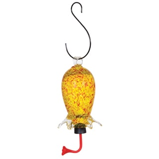 Gardman 18 Oz Glass Cylinder Hummingbird Feeder