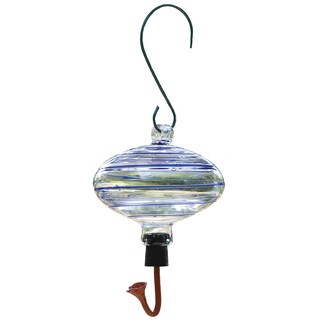 Gardman 19 Oz Swirl Glass Oval Feeder
