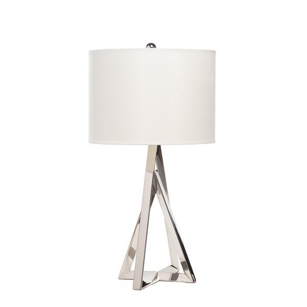 Pyramid Chrome Table Lamp With 3 Brightness Settings