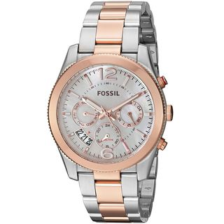 Fossil Women's ES4135 'Perfect Boyfriend' Multi-Function Two-Tone Stainless Steel Watch