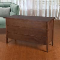 Kentucky Mid-Century 3-Drawer Dresser, Cocoa Wood