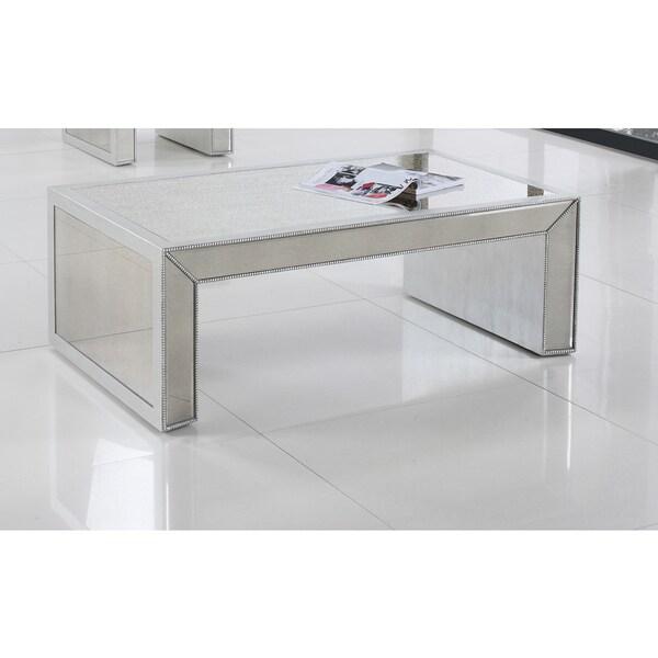 Shop Best Master Furniture T1850 Silver Rectangular Coffee