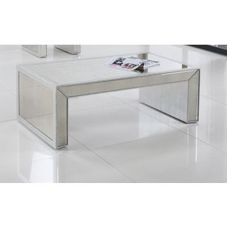 Best Master Furniture T1850 Silver Rectangular Coffee Table