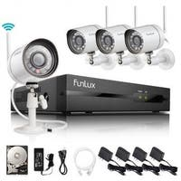 Funlux 4 Ch 720P 500GB HDD Wireless Security System (As Is Item)