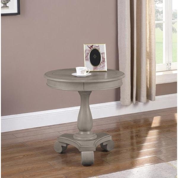 Best Wood Furniture: Shop Best Master Furniture Y106 Wood Round Pedestal End