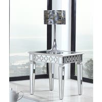 Best Master Furniture Mirrored Silver End Table