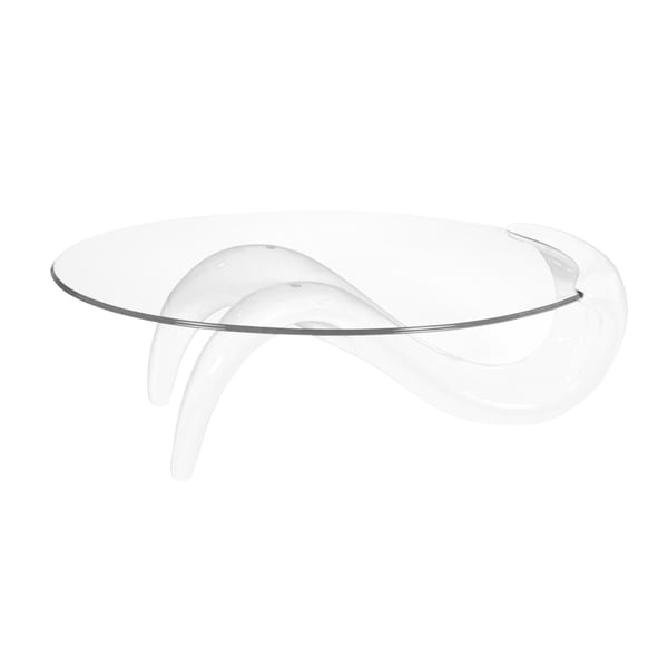 Best Master Furniture Oval Coffee Table