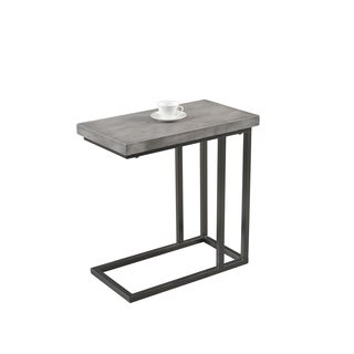 Best Master Furniture YFT3 Metal and Wood Side Table