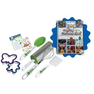 Curious Chef Kids Cooking with Curious Chef Cookbook and 6-piece Cookie Kit