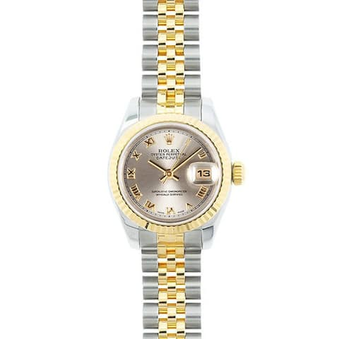 Pre-owned Rolex Mid 2000's Model 179173 Women's Datejust 18K Yellow Gold and Stainless Steel Dial Watch