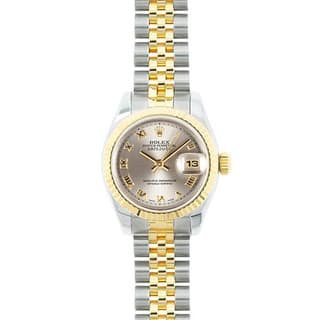 Pre-owned Rolex Mid 2000's Model 179173 Women's Datejust 18K Yellow Gold and Stainless Steel Dial Watch|https://ak1.ostkcdn.com/images/products/15051137/P21544510.jpg?impolicy=medium