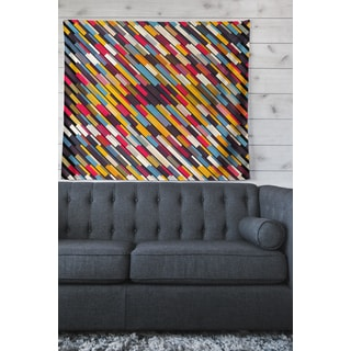 Kess InHouse Dawid Roc 'Inspired By Psychedelic Art 2' Red Abstract Wall Tapestry