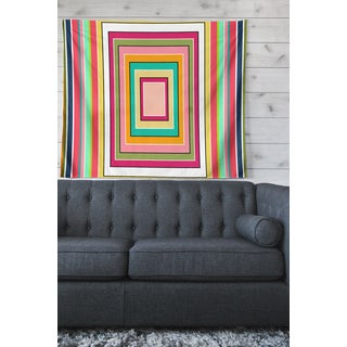 Kess InHouse Dawid Roc 'Inspired By Psychedelic Art 3' Purple Abstract Wall Tapestry