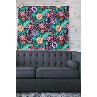 Kess InHouse Carol Schiff Multicolor Floral Wall Tapestry - Green
