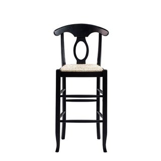 Link to Boraam Ind Napoleon Black Wooden Keyhole Rush Barstool Similar Items in Dining Room & Bar Furniture