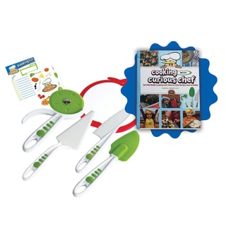 Cooking With Curious Chef Cookbook and 5-piece Pizza Kit Set