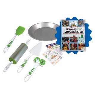 Cooking with Curious Chef Cookbook and 5-piece Pie Kit Bundle