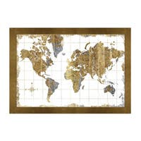 Framed Art - Gilded Map