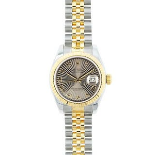 Pre-owned Rolex Mid 2000's Model 179173 Women's Datejust 18K Yellow Gold and Stainless Steel Sunbeam Dial Watch|https://ak1.ostkcdn.com/images/products/15051445/P21544593.jpg?impolicy=medium