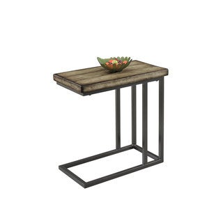 Best Master Furniture YFT1 Side Table - Tan/Black/Brown
