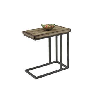Best Master Furniture YFT1 Side Table   Tan/Black/Brown
