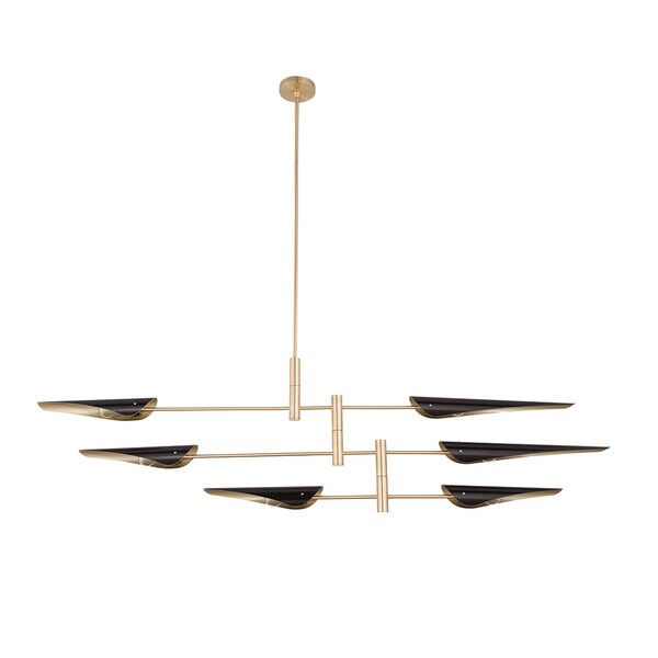 Hans andersen home spenst black and gold metal modern chandelier