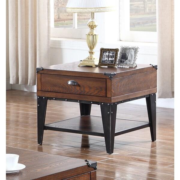 Shop Best Master Furniture Weathered Oak Sleigh: Shop Best Master Furniture DX600 End Table