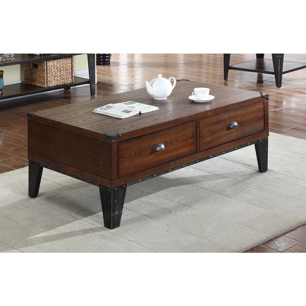 Shop Best Master Furniture Weathered Oak Sleigh: Shop Best Master Furniture DX600 Wood Coffee Table