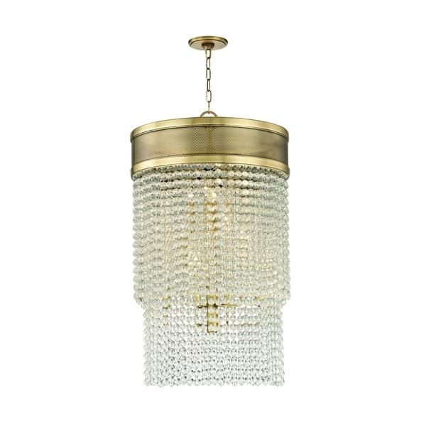 Hudson Valley Harrison 12-light Aged Brass Pendant