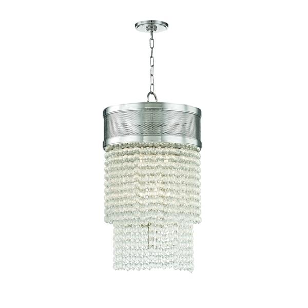Hudson Valley Harrison 8-light Polished Nickel Pendant