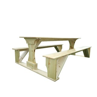 Commercial Grade Indoor Pine Pub Trestle Table