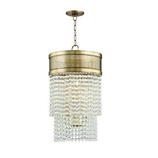 Hudson Valley Harrison 8-light Aged Brass Pendant