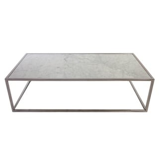 Hans Andersen Home Eimhir Marble and Stainless Steel Coffee Table