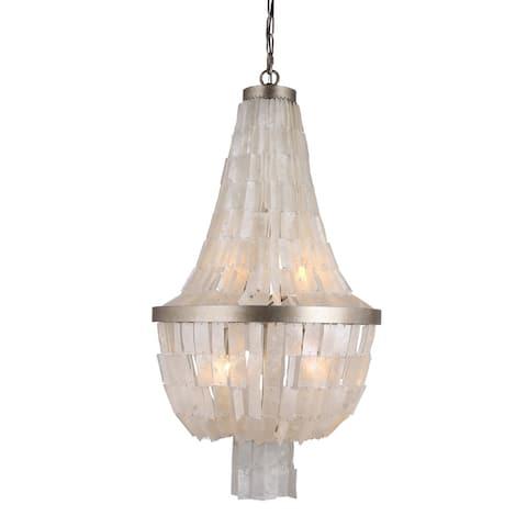 AA Warehousing 3 Light Chandelier in Silvery Gold finish