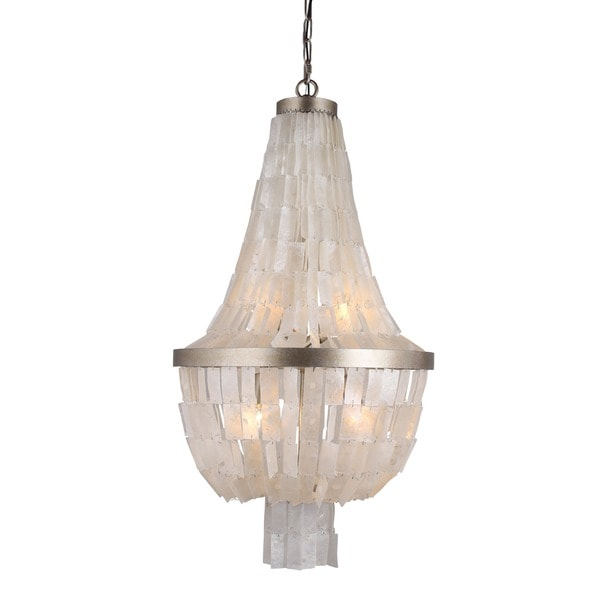 Y-Decor 3 Light Chandelier in Silvery Gold finish