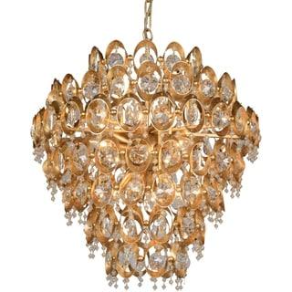 Y-Decor Goldtone Crystal 12-light Chandelier